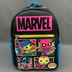 Funko Marvel Blacklight Small Faux Leather Backpack Target Exclusive New w Tags $49.96