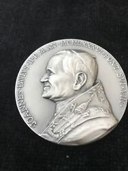 Knights Of Columbus Medal Restoration Of St Peter's Basilica 1985-1986 Silver