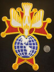 2 Knights Of Columbus - 4th Degree Embroidered Patches 7 H K Of C