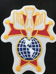 2 Knights Of Columbus - 4th Degree Embroidered Patches 8 Tall K Of C