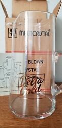 Delta Gold Vintage Frito Lay Glass Pitcher