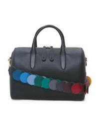 Auth Anya Hindmarch Vere Barrel W. Link Strap Bowler Bag Black 1995 Sold Out
