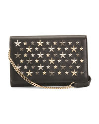 Nwt Jimmy Choo Made In Italy Leather Boxed Star Studded Crossbody Strap Bag