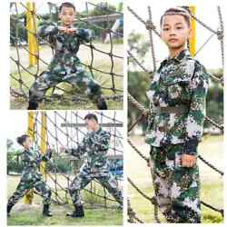 Children Boys Soldier Camouflage Outfits Long Sleeves JacketPants Kids Costumes
