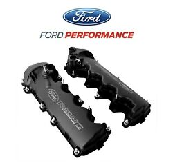 2005 2010 Ford Mustang GT 4.6 3V Black Ford Racing Cam Valve Covers Pair