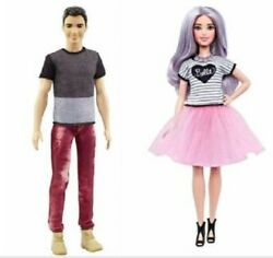 Barbie Fashionistas 54 Tutu Cool Pink Skirt Doll And Ken Number 6 , Year 2014