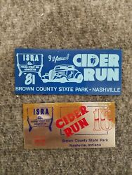 Cider Run Brown County State Park Nashville Indiana Car Show Dash Plaque Lot