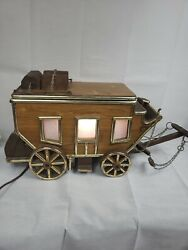 Vintage Stagecoach Wagon Table Lamp Light Western Unique
