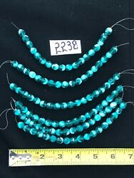 Crystal Chandelier Part 6 Strands Of 7 In Varigated Green 8 Mm Bead