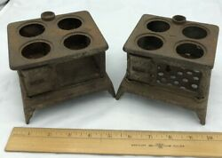 Antique Salesman Sample Cast Iron Toy Stove Base Lot. Free Shipping.