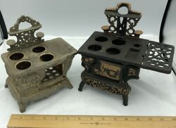Antique Salesman Sample Cast Iron Toy Stove Lot. Free Shipping.