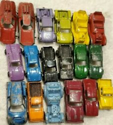 Vtg Tootsie Toy Car Lot Of 18 Die-cast Metal Trucks Fiat Abarth Roadster Ford Gt