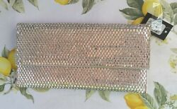 Sequined Silver Clutch Purse $15.00
