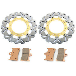 2005-2016 For Yamaha Yzf-r6 07 08 09 10 11 13 15 Front Brake Discs Rotors + Pads