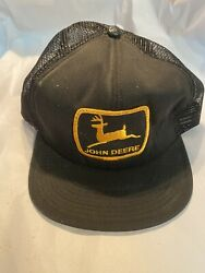 vintage made usa black john deere trucker hat with patch ( Hat 2) $45.00