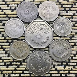 Lot Of Old Coins From Iraq 102550250 Fils Some Silver Coins And Some Not X 8.