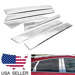 For 2010-2016 Cadillac Srx Stainless Steel Chrome Pillar Post Trim Cover