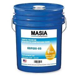 Quincy Quinsynpg Oil, 5 Gallon Pail, 8000 Hours 143808-005, Quin-syn Pg