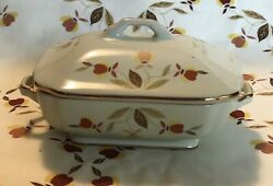 Hall AUTUMN LEAF Collector MINIATURE COVERED CASSEROLE China Specialties JEWEL T
