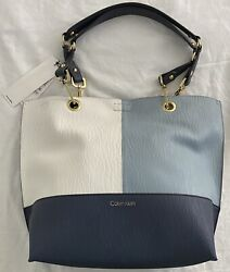 New Women's Calvin Klein H8JBZ3PH Sonoma Faux Leather Reversible Large Tote $4.25
