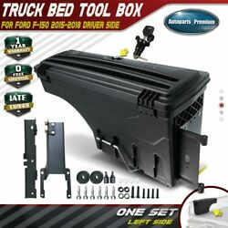 1x Lockable Storage Box Truck Bed Tool Box Driver Side For Ford F-150 2015-2019