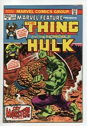 Marvel Feature 11a  Vf+ 8.5  11th Issue 2 In 1 Prototype Hulk Vs Thing
