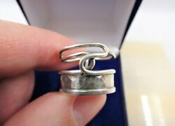 Vintage Jewish Israel Ring Judaica Sterling Silver 925 Men's Jewelry Size 18