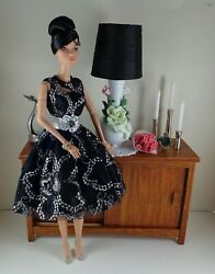 Black And Silver Lace Cocktail Dress Fits Fashion Royaltysilkstone Barbie Dolls