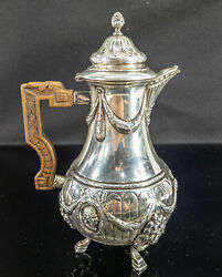 Antique Early Coin Silver German Chocolate Coffee Pot 18th Century 12 Loth