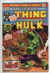 Marvel Feature 11d  Vf+ 8.5  11th Issue 2 In 1 Prototype Hulk Vs Thing