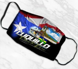 Face Mask Puerto Rico LUQUILLO Design Double Layer Pocket Filter Washable $15.00
