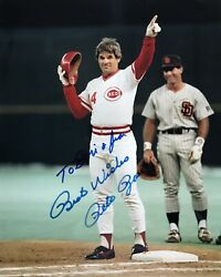 ✍️ Pete Rose Autograph Photo 8x10 Collectible Picture Signed By The Mlb Legend