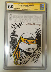 Kevin Eastman Signed Sketch Jennika Teenage Mutant Ninja Turtles 95 Cgc 9.8 3