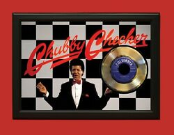 Chubby Checker Poster Art Wood Framed 45 Gold Record Display C3