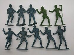 Vintage 1970's Mpc Battling Buddies 5 Military Army Figures W/ Accessories Lot