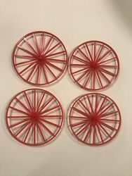 3d Printed Replacement Set Of Wagon Wheels For Johnny West Wagons