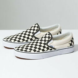 Vans Slip On Checkerboard Black Classic Shoes FREE SHIPPING $52.99