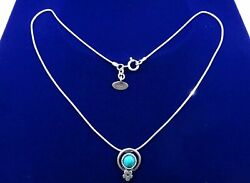 Vintage Jewish Israel Sterling Silver 925 Necklace Turquoise Jewelry Women's
