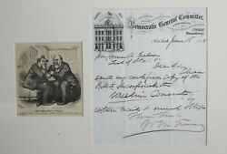 William M. Tweed Autograph Tammany Scandal Democratic General Committee