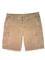 7 For All Mankind Mens Regular Cargo Shorts Brown Size 38