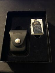 Zippo Gift Set Jack Daniels Lighter With Jack Daniels Pouch Collectible.
