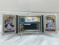 2020 Gypsy Queen Aaron Judge Auto Game Used Patch Book 04/10 Super Rare Yankees