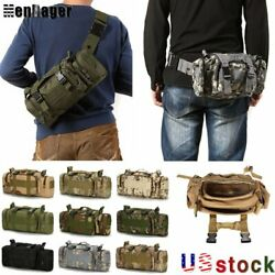 Military Tactical Waist Bag Molle Camping Shoulder Chest Bag Outdoor Fanny Pack $13.99