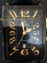 Gevriland039s Avenue Of Americas Automatic Menandrsquos Watch L.e. 111 Of 500 Model 5009a