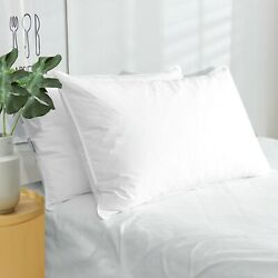 Puredown 2 Pack White Goose Down Feather Bed Pillows Standard Queen King Size