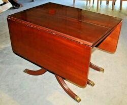 Gorgeous, Vintage Duncan Phyfe Style Drop Leaf Dining Room Table With Table Pads