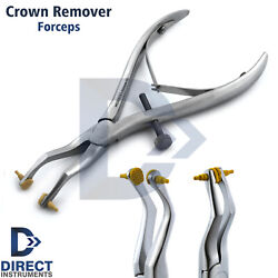 Crown Remover Forceps Temporary Crowns Bridge Removing Plier Rubber Tips Dental
