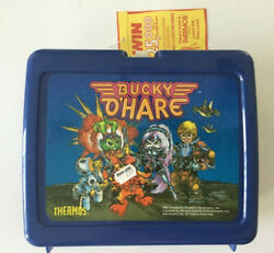 Bucky O'hare Thermos Lunch Kit Box 1991 Attached Exterior And Interior Tags Rare