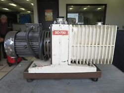 1 1/2 Hp Varian Two Stage 240 Volt Vacuum Pump Model Sd-700