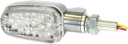 K And S Dot Led Marker Lights - Polish/clear 3 Wires 26-7705